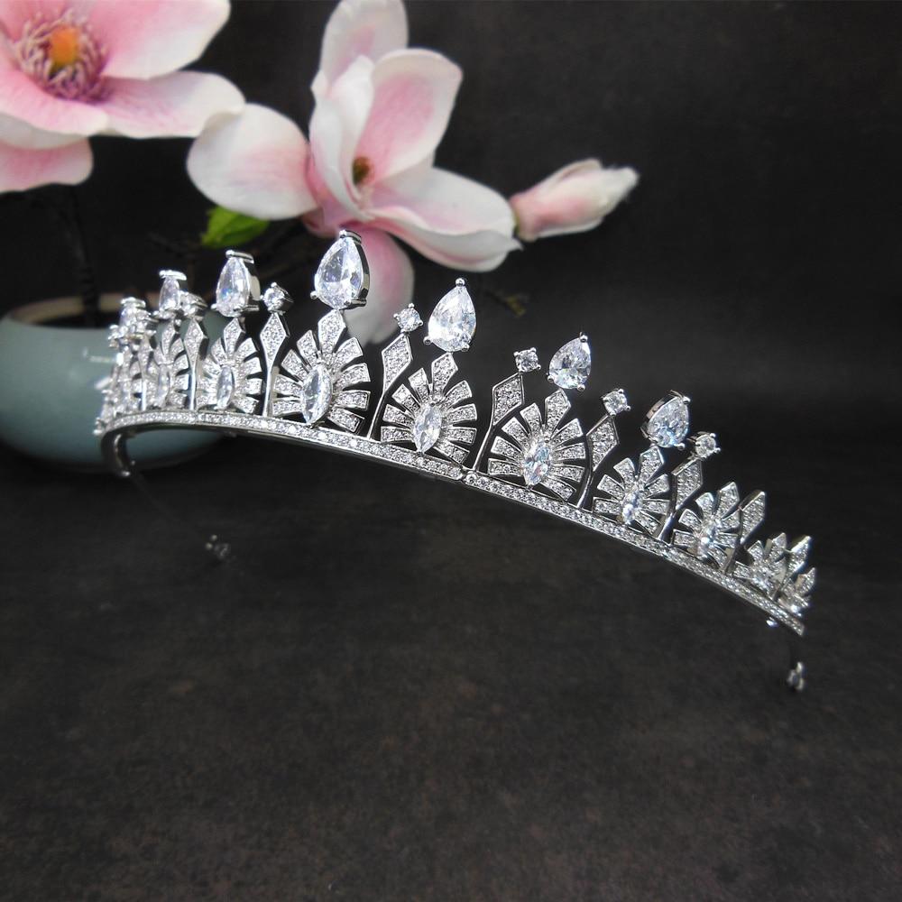 Corona de Zirconia, Tiara nupcial, Novia, Diadema, joyería de boda, Tiaras y...
