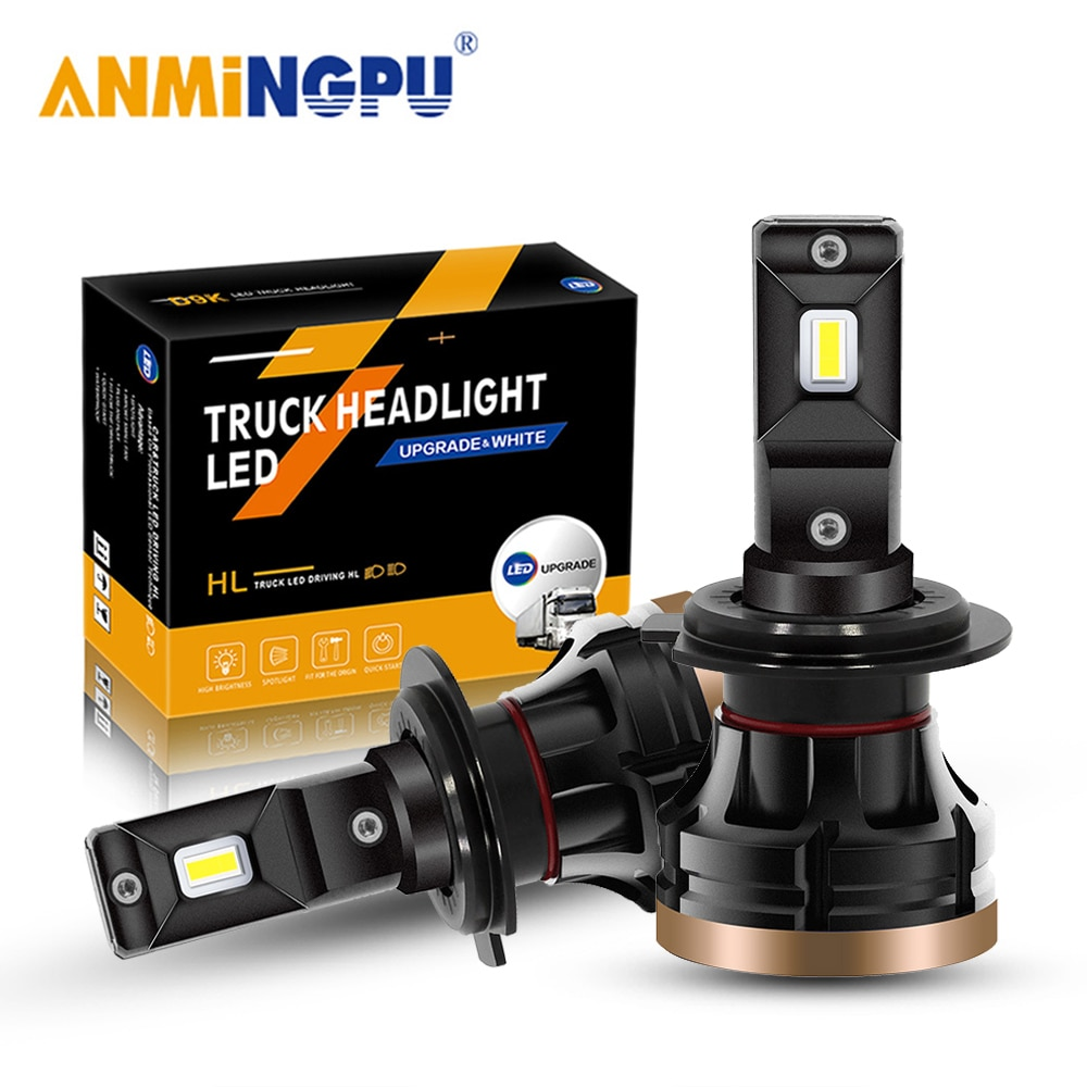 ANMINGPU Canbus H7 Led Car Headlight Bulb 9006 HB4 9005 HB3 Led HeadLight 9012 HIR2 H1 H11 H8 H9 H4 Led Bulb 16000LM 60W 12V-48V car headlight h8 h4 led h1 h7 led h8 h9 h11 9005 hb3 9006 hb4 9012 headlight 12v led 6500k 65w white light