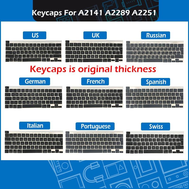 50 مجموعة/وحدة A2141 A2289 A2251 مفاتيح كيكابس ازرتي لماك بوك برو الشبكية 13