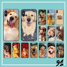 Golden retriever chien bricolage peint étui de téléphone housse de téléphone pour iPhone 6S 6plus 7 7plus 8 8plus X Xs MAX 5 5S XR 10