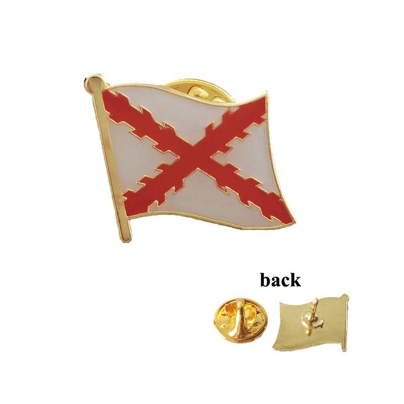 Фото - Spanish Empire Cross of Burgundy Flag Lapel Pins Brooch Badge Emblem National Spain  Badge Suit Pin Personality Corsage carol steward badge of honor