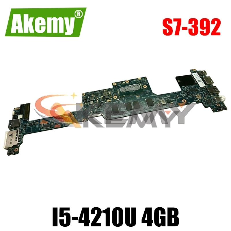 AKEMY NBMBK11007 NB.MBK11.007 48.4LZ02.021 لشركة أيسر أسباير S7-392 اللوحة الأم للكمبيوتر المحمول SR1EF I5-4210U ذاكرة 4GB