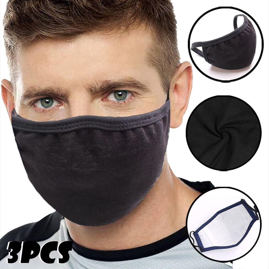 Máscara negra Unisex para hombres/mujeres estilo coreano dibujos animados algodón a prueba de polvo transpirable montar protección solar UV máscara fina de verano en Stock