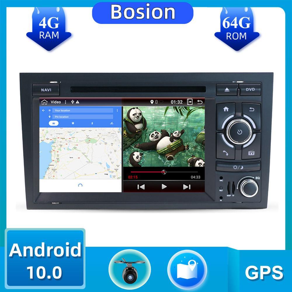 2 Din Car Multimedia reproductor de DVD Radio GPS Android 10 para Audi/A4/S4 2002-2008 Autoradio 2Din la unidad 4G + 64GB DSP AUX DAB BT