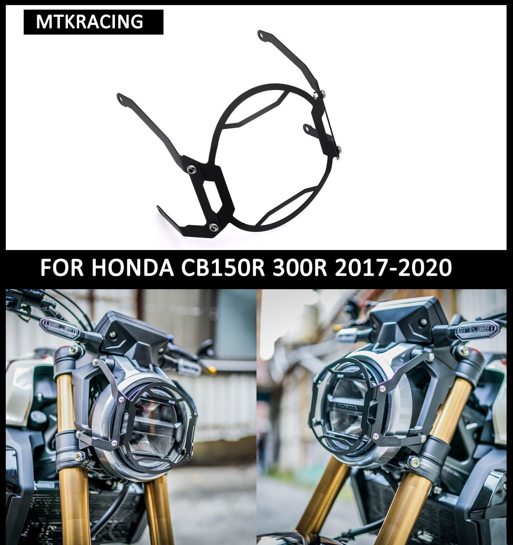 Mtkracing para honda cb150r cb250r cb300r farol grille capa 2017-2020