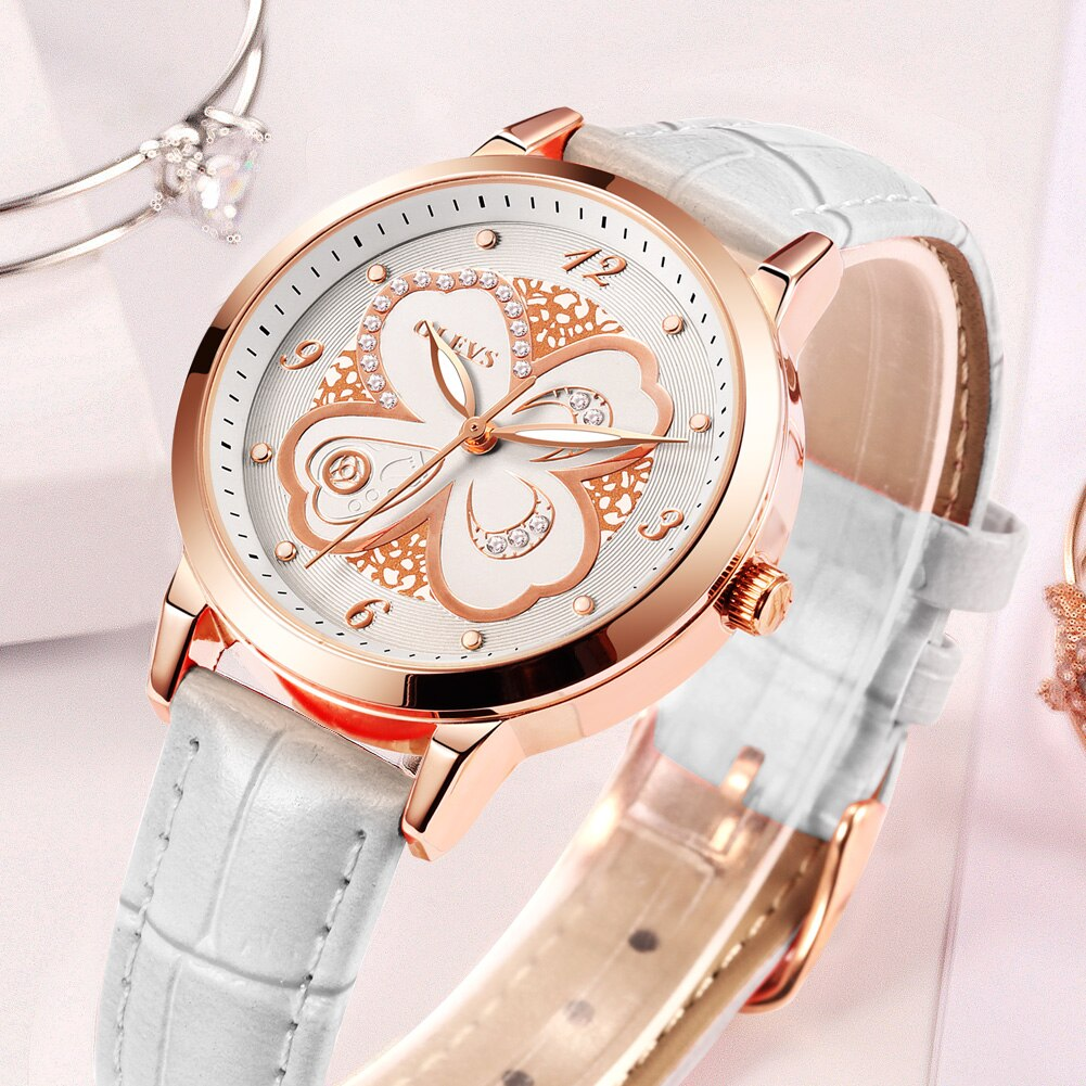 Manufacturer custom wholesale four-leaf clover three-leaf quartz ladies watch. GX-5188 enlarge