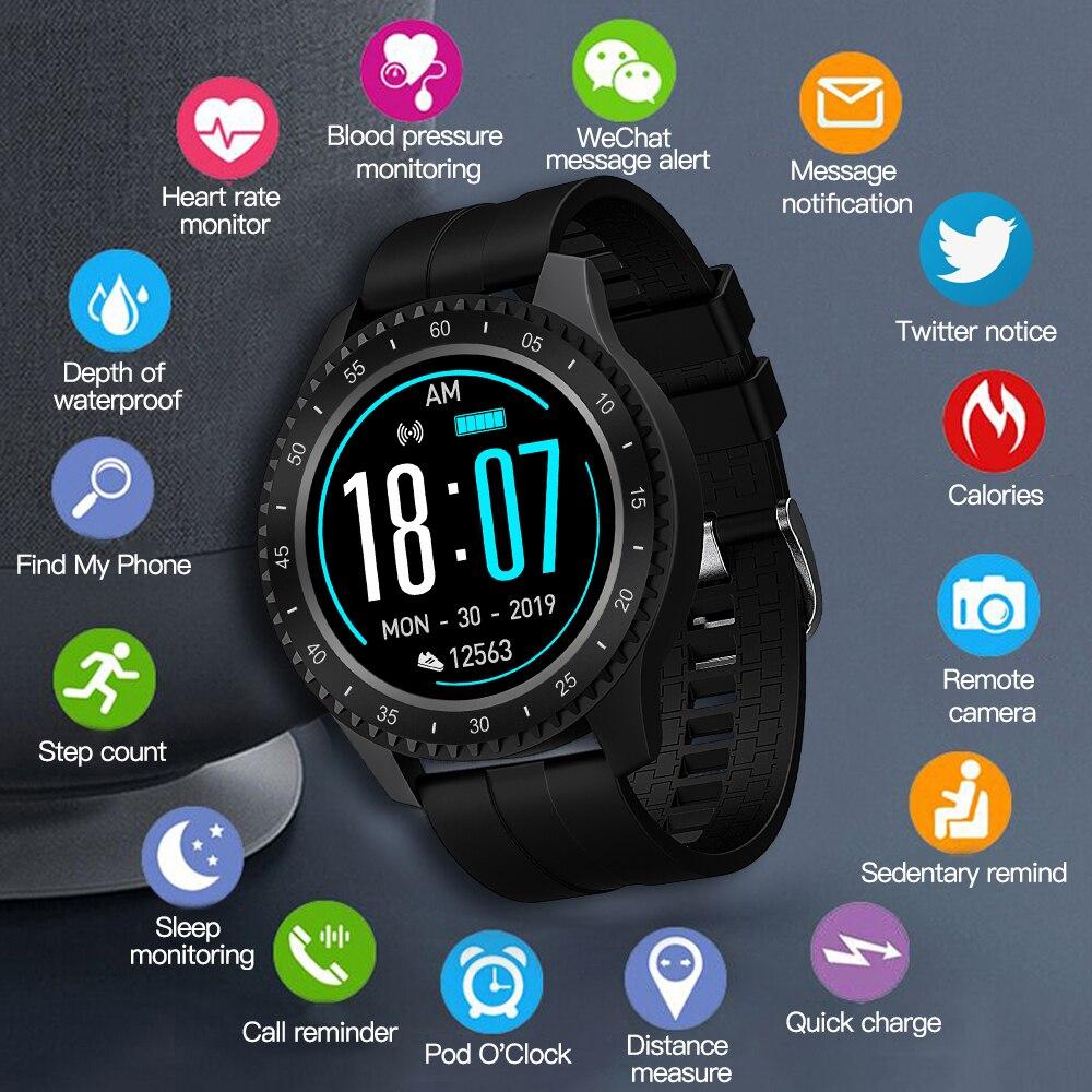 696 nueva moda F17 reloj inteligente círculo completo pantalla táctil smartwatch IP68 impermeable Fitness tracker pulsera deportiva inteligente