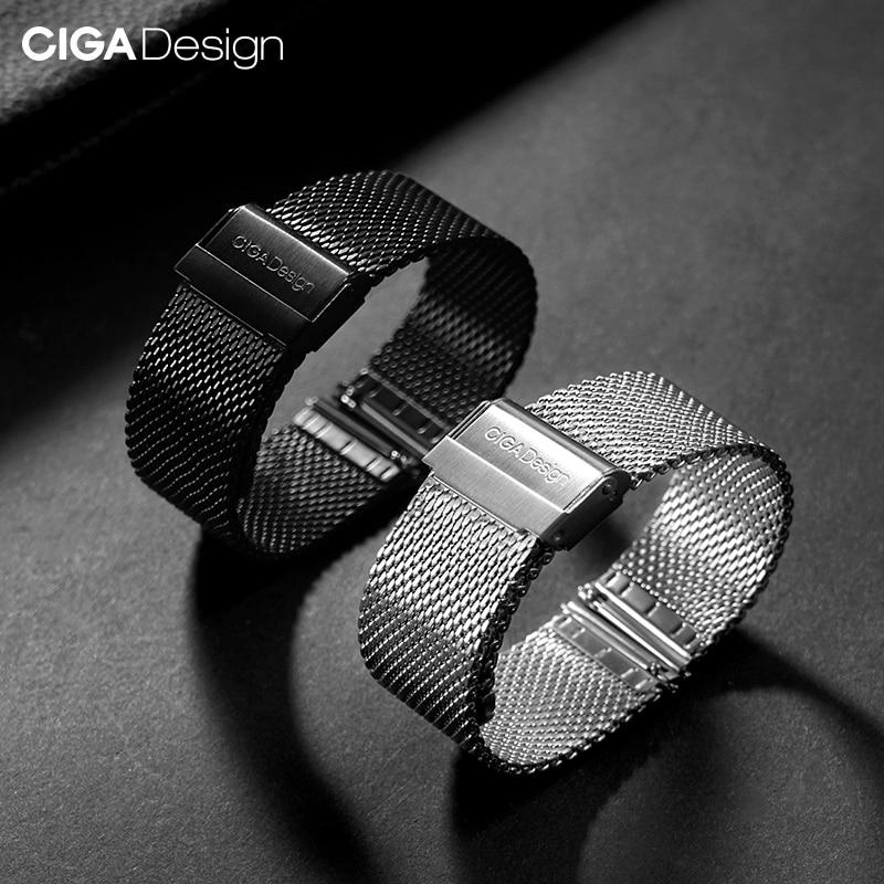 شاومي Youpin CIGA تصميم 22 مللي متر حزام ساعة الفولاذ المقاوم للصدأ اكسسوارات ل CIGA التلقائي جوفاء ساعة ميكانيكية Z MY Series