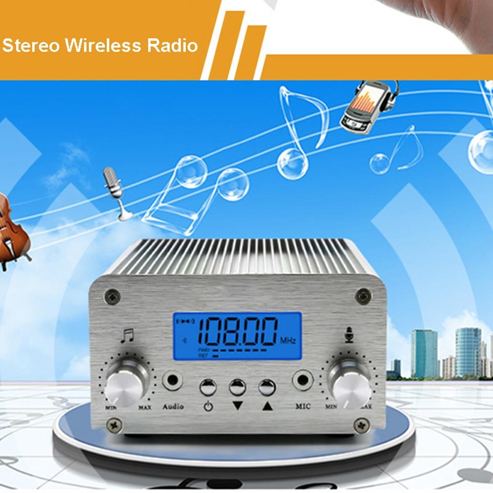 15W PLL 76 a 108MHz transmisor FM de uso amplio Bluetooth inalámbrico ajustable transmisión de potencia DC12V accesorios Radio Estéreo