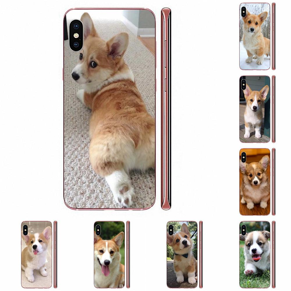 Corgi Puppy Dog For Samsung Galaxy A10 A20 A20E A3 A40 A5 A50 A7 J1 J3 J4 J5 J6 J7 2016 2017 2018 TPU Transparent Bag Case