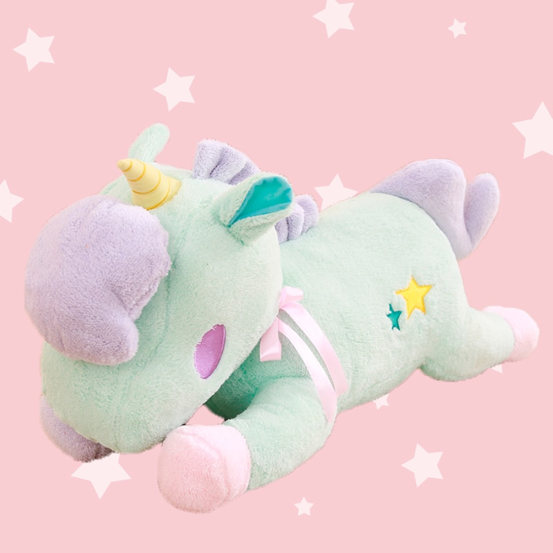 New Kawaii Unicorn Plush Toy Stuffed Animals Unicorn Horse Dolls Kids Soft Cuddly Plushie Xmas Birthday Gift Unicorn Party Favor