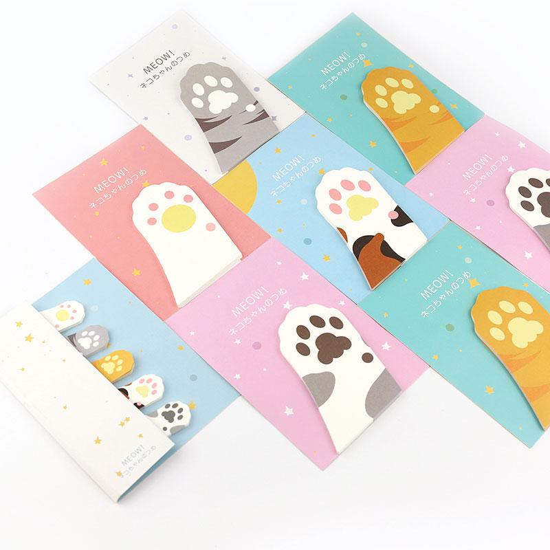 4 unidades/pacote notas pegajosas marcador scrapbooking adesivo presente material escolar bonito mini almofadas de memorando papel