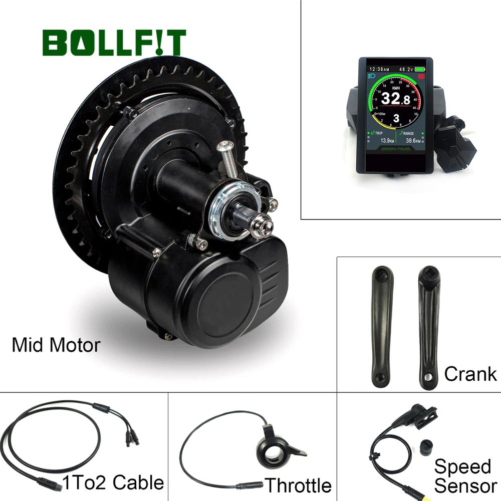 TSDZ2 Tongsheng 850C pantalla V 36V 48V 250W 350W 500W Sensor de par 42T de Motor de bicicleta eléctrica Kit con función de batería