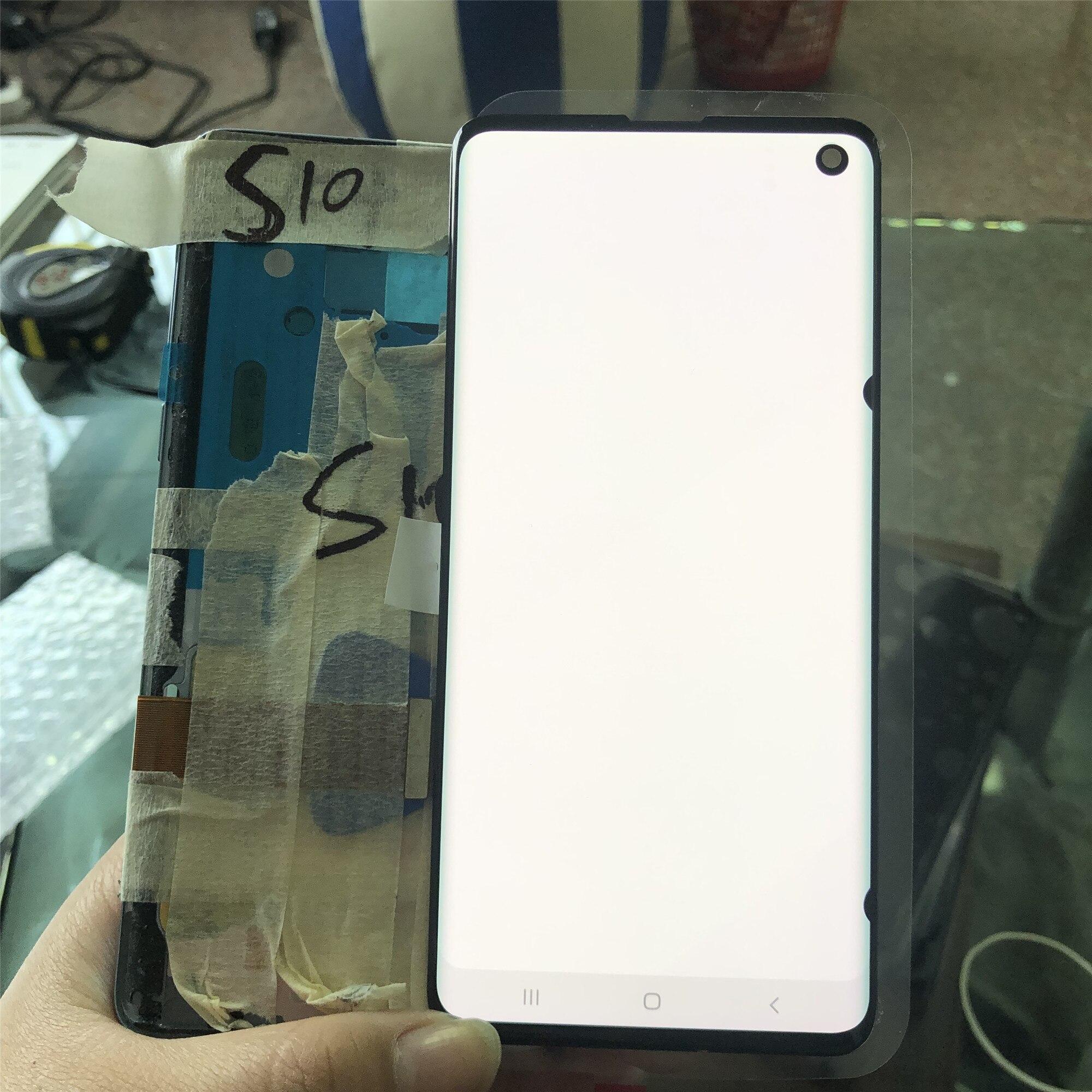 شاشة LCD أصلية 100% لجهاز سامسونج جالاكسي S10e و S10, شاشة لمس مع نقطة سوداء لأجهزة G9730 S10 + Plus G9750