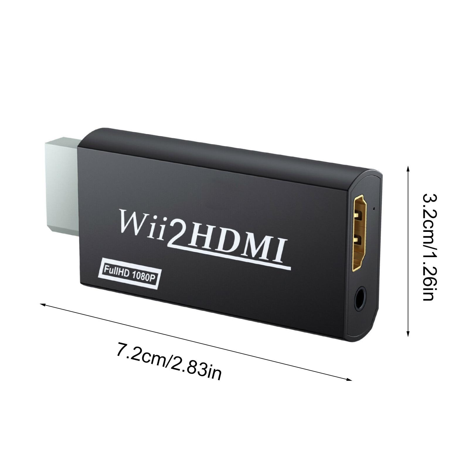 Wii compatible con HDMI Adaptador convertidor 1080p de salida de vídeo de...