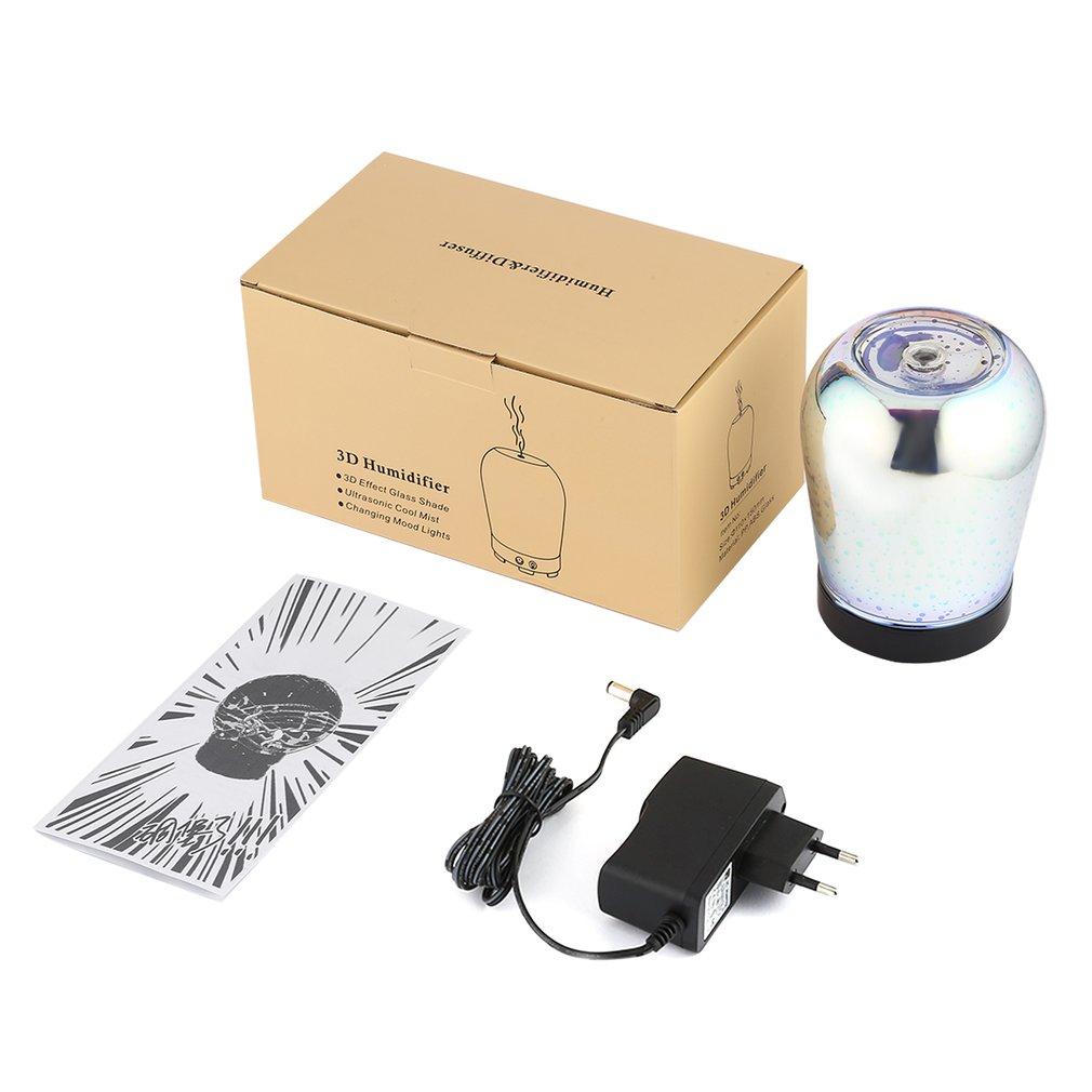 100ml aromaterapia difusor de óleo essencial umidificador névoa fria 4 ajuste do tempo 8 cor em mudança luz led para casa escritório