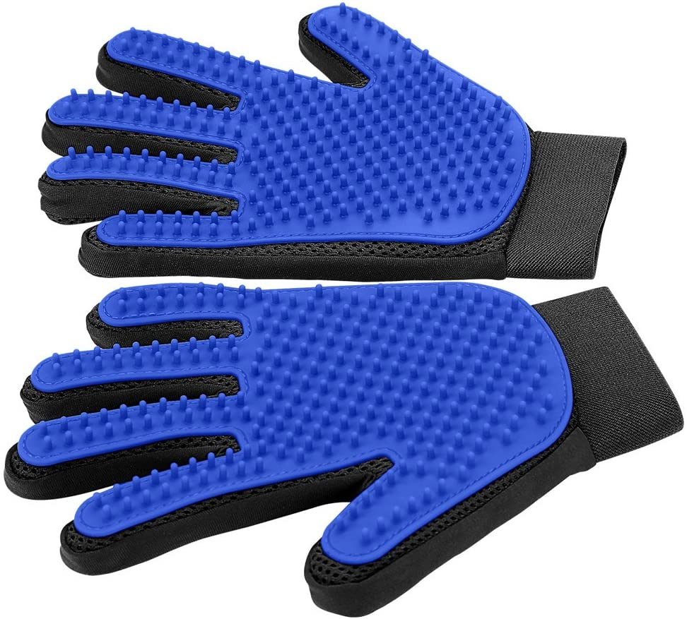 2021 dog pet grooming gloves silicone cat brush comb shedding hair bath cleaning supplies animal
