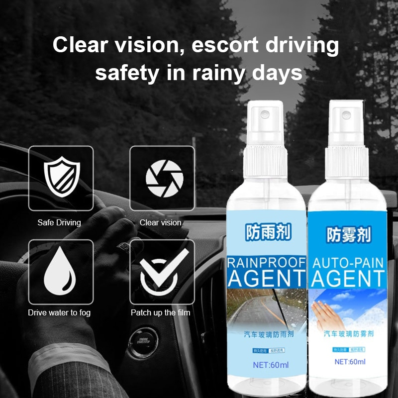 Automobile glass antifogging agent Long-lasting car window defogging rearview mirror flooding and Rainproof agent