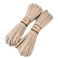 10m vintage jute burlap hessian ribbon diy handmade crafts braided cords christmas wedding birthday party gift wrapping rope