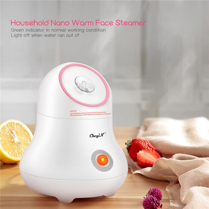 AliExpress - 220V Warm Mist Lady Facial Steamer Nano Ionic Face Sprayer Face Humidifier Pore Open Sauna Spa Steaming Tool Face Moisturizer 31