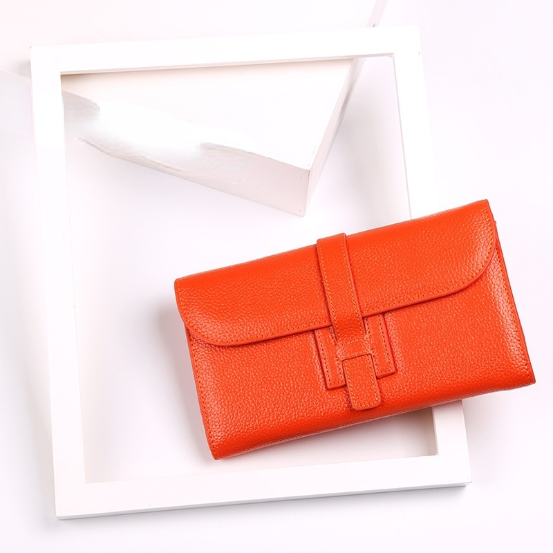 PU leather women's wallet bag with lychee grain leather handbag mobile phone bag Classic women's purse large capacity bag