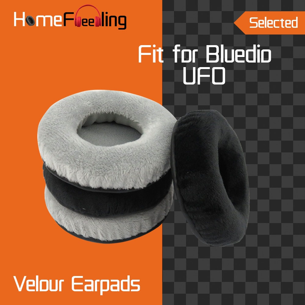 Homefeeling velour Earpads for Bluedio UFO Headphones Earpad Cushions Covers Velvet Ear Pad Replacement