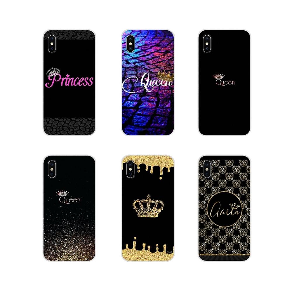 La Reina y el rey corona para Huawei Honor 4C 5C 6X 7 7A 7C 8 9 10 8C 8S 8X 9X 10I 20 Lite Pro accesorios cubiertas de los casos del teléfono