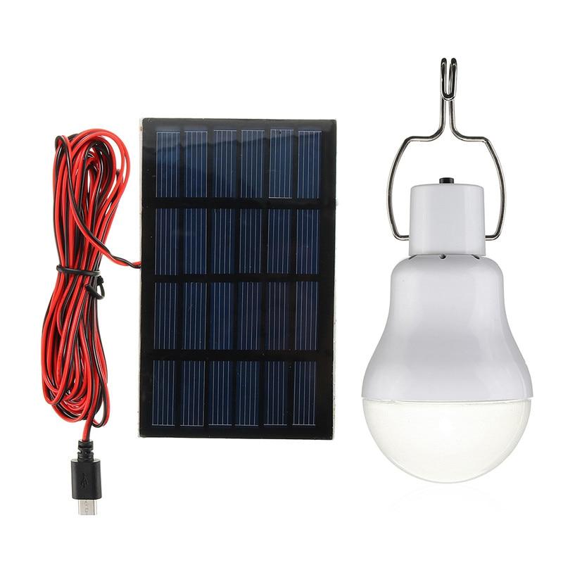 Portable Solar Light 15W 110LM Solar Powered Energy Lamps 5V LED Bulb for Outdoors Camping Light Tent Lamp