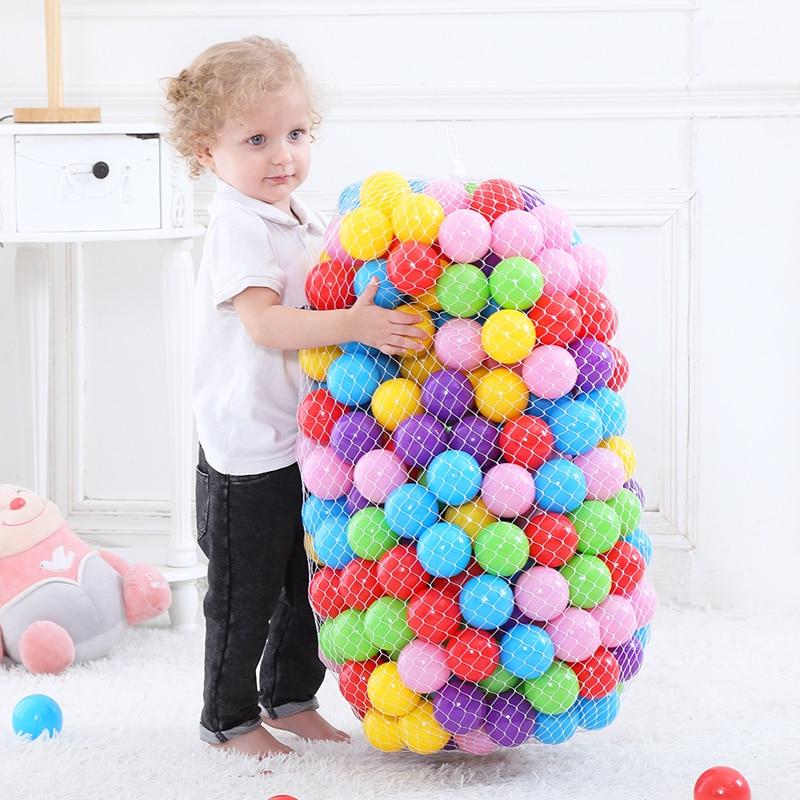 300 Pcs/Bag Inflatable Balls Toys Colorful Pool Balls Eco-Friendly Ocean Wave Balls for Dry Pool Soft Plastic Ball Pit Dia 5.5CM