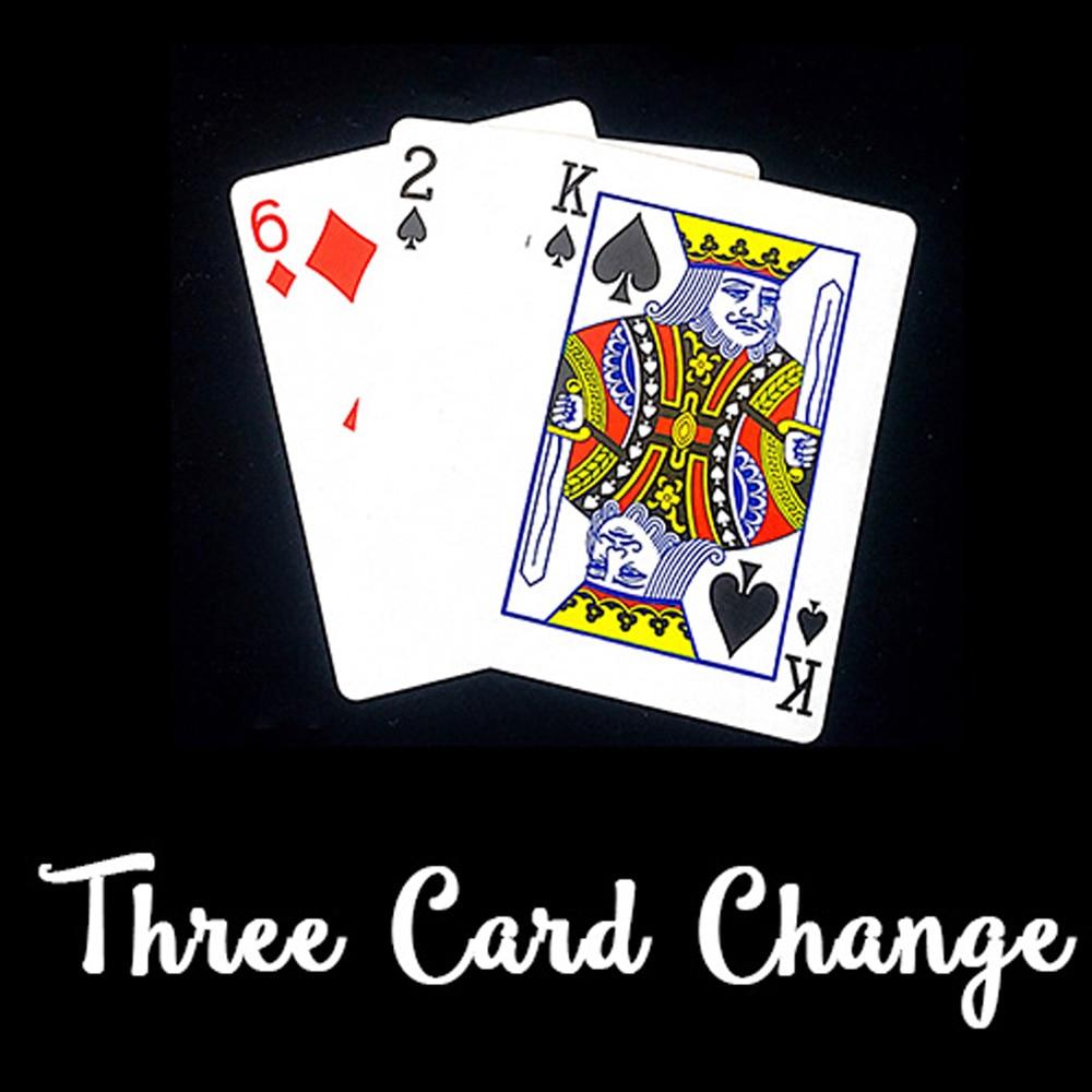 Tres cartas, cambio de cartas, póquer, Magia, trucos, escenario, Magia, mentalismo, accesorios para trucos de ilusionismo, cambio de cartas, Magia