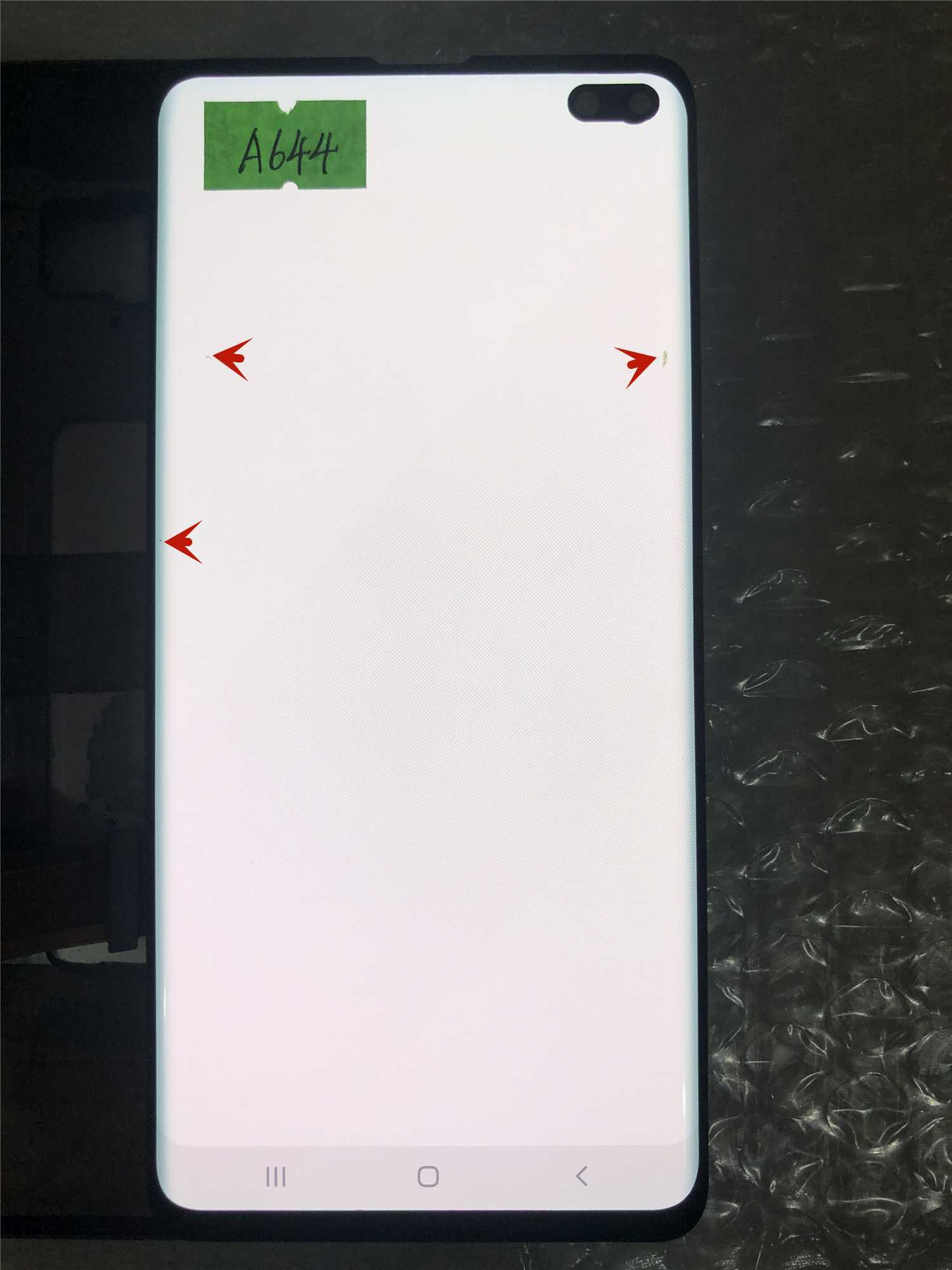 ORIGINAL AMOLED For SAMSUNG Galaxy S10 Plus G975 G975F G975F/DS Touch Screen Digitizer with Frame With Defect enlarge