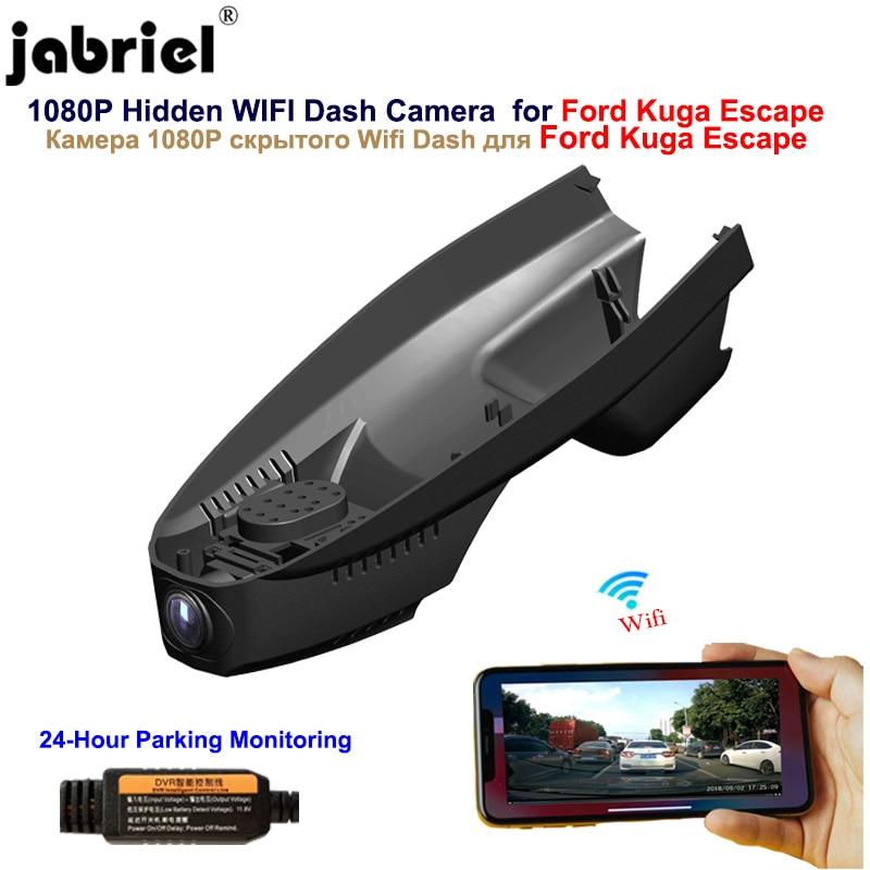 Jabriel oculta 1080P Wifi dash Cámara coche dvr coche cámara para Ford Kuga Escape 2008 2009 2010 2013 2014 2015 2016 2017 2018 2019