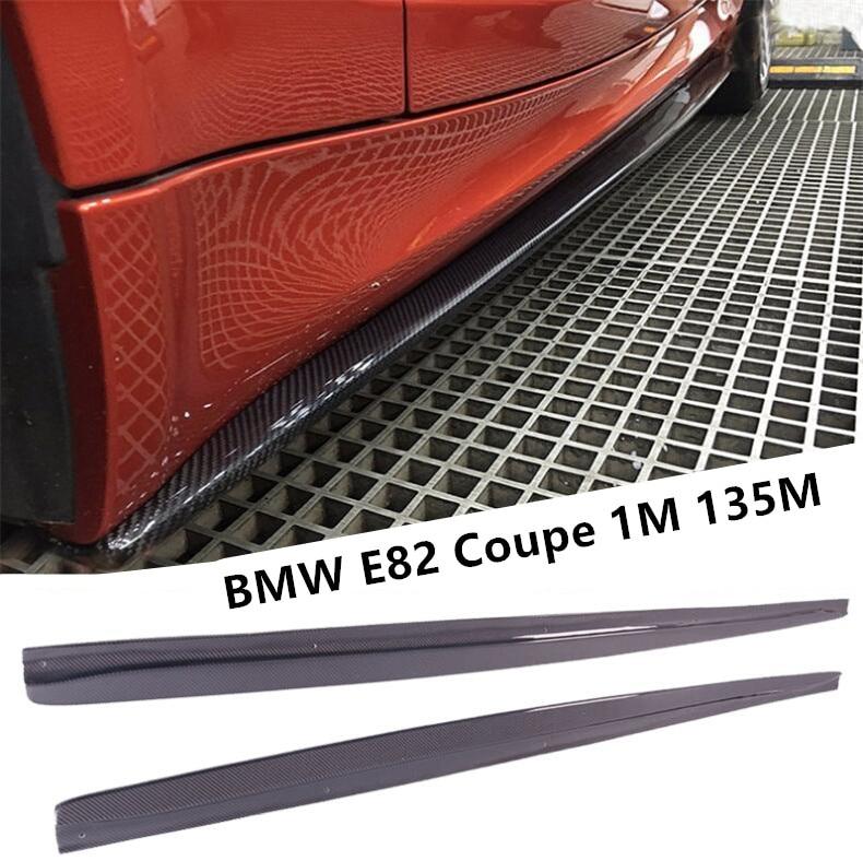 Para BMW E82 Coupe 1M 135M 2007-2017 falda lateral de fibra de carbono alerón de labios accesorios difusores de coche
