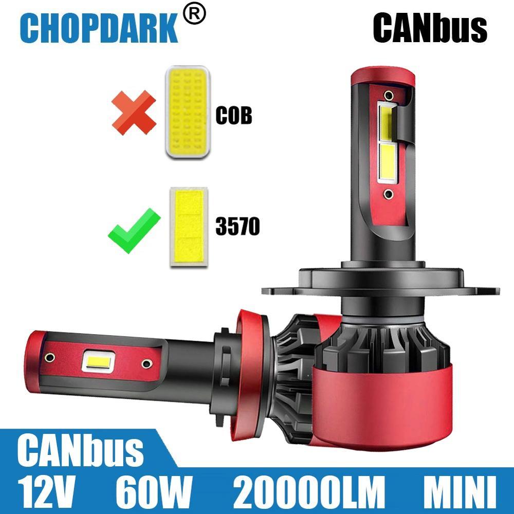 Bombillas LED de faro delantero de coche CANbus listo 20000LM led H1 H3 H4 H7 H11 H8 H9 H15 5202 9005 HB3 9006 HB4 H16 H27 880, 9004 de 9007 H13 9012