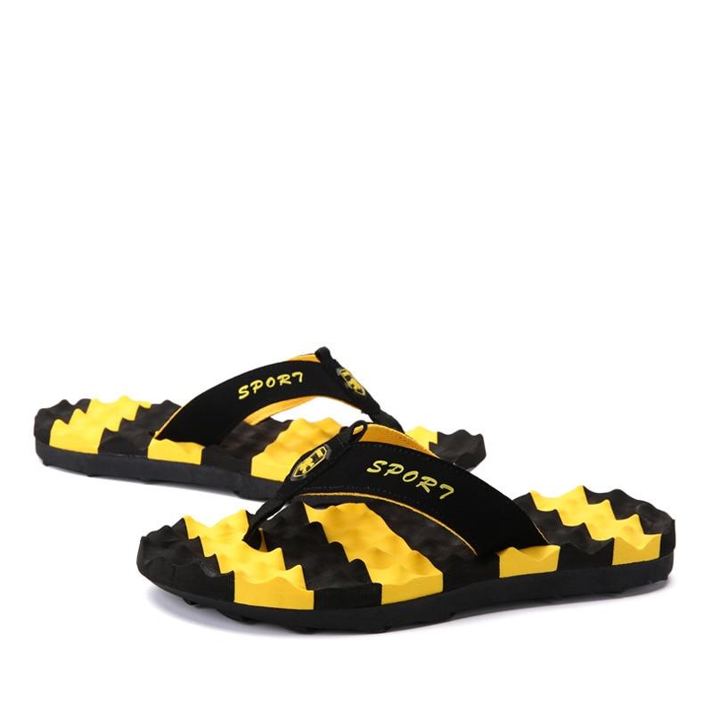 Мужские массажные тапки больших размеров, летние модные Нескользящие шлепанцы для мужчин 2020, новейшие пляжные сандалии, Прямая поставка