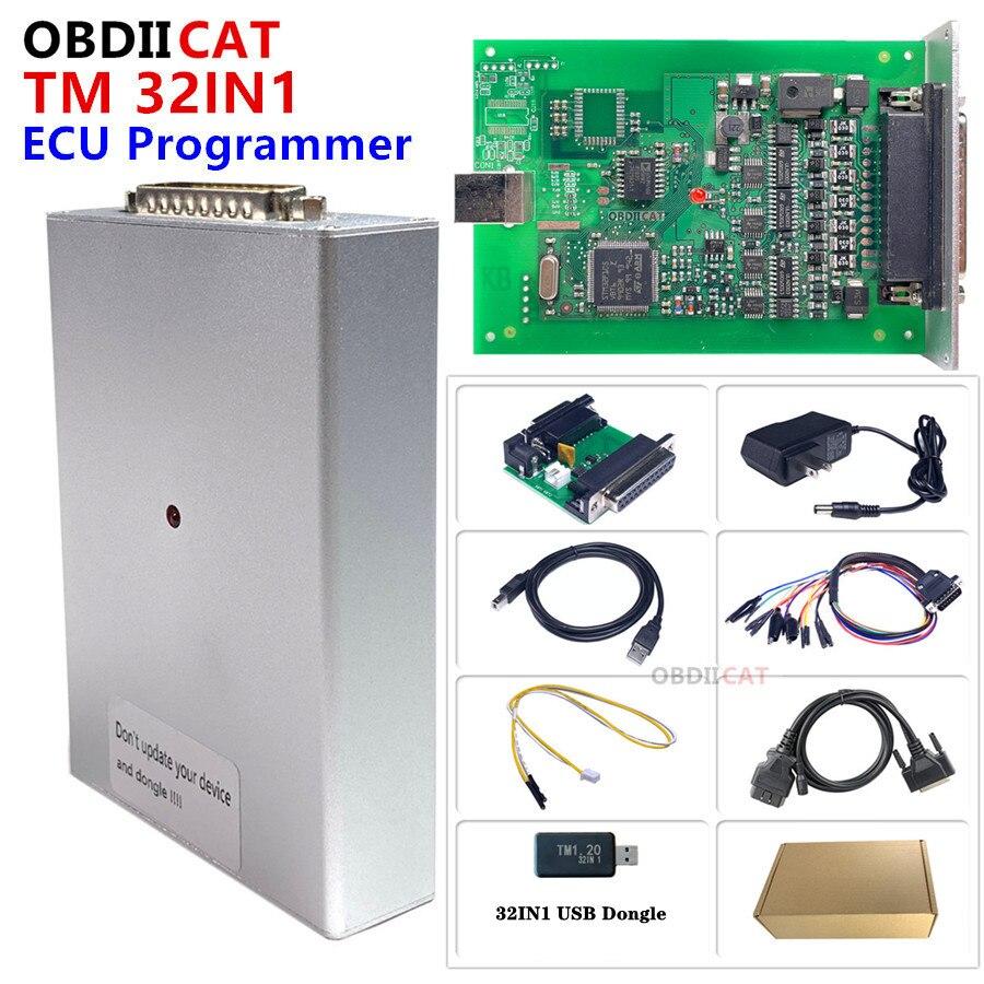 Программатор ECU K-T-M, 32 в 1, 1,20, чтение и запись через загрузку, скамья K--TM инструмент для настройки чипа V1.20