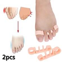 Los 2 uds más nuevos separadores de dedos de pie Hallux valgus multifuncionales Gel dedo del pie Corrector de juanete escudo correctores ortopédicos