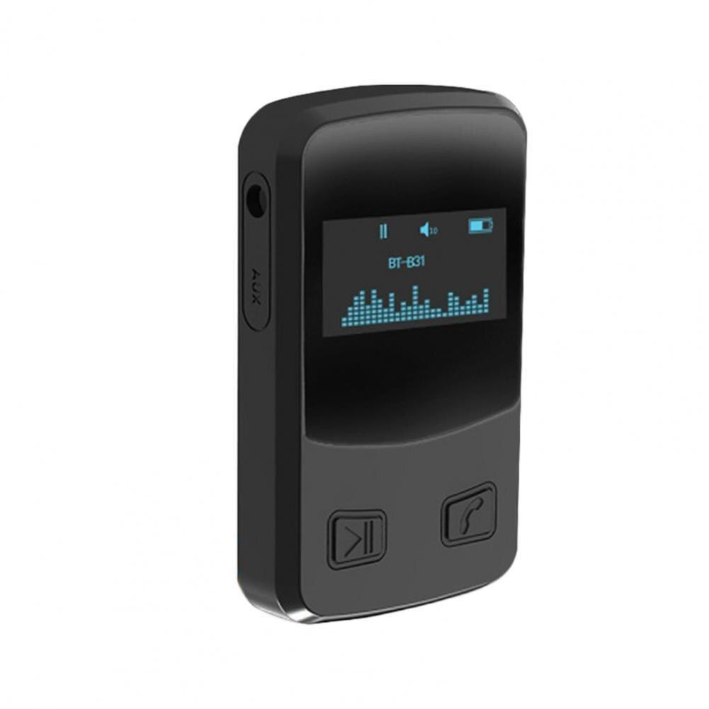 جهاز استقبال للموسيقى لاسلكي متوافق مع بلوتوث BT 5.0 استقبال الصوت مع شاشة عرض OLED محول تدفق الموسيقى