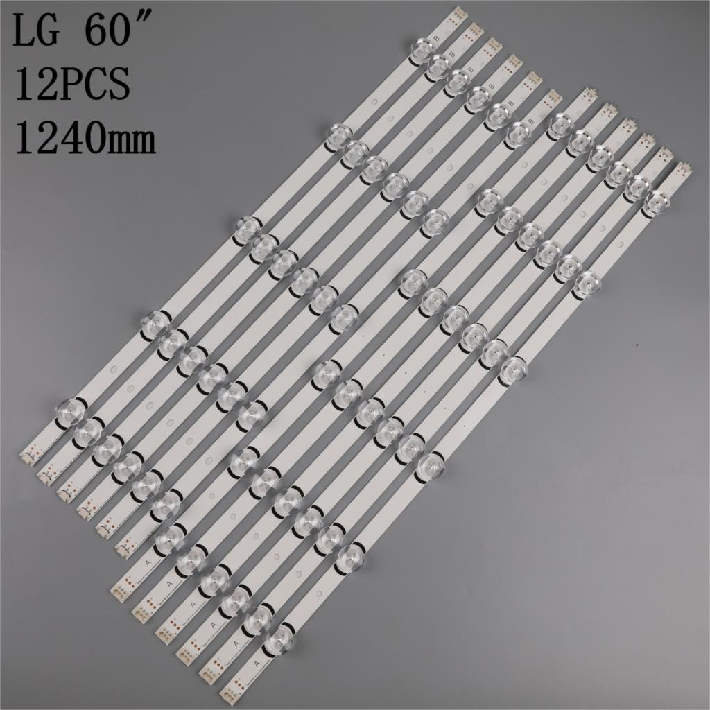 100% New 12pcs/Kit LED strips for L G 60 TV 60GB6580 60LB6500 UP 60LB7100 UT LC600DUF FG P2 LG INNOTEK DRT 3.0 60 A TYPE REV01