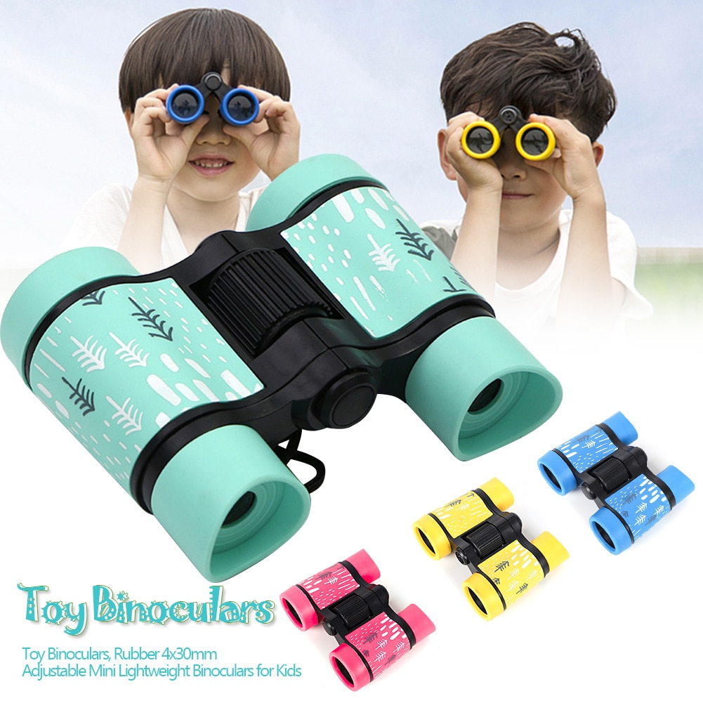 4x30mm Adjustable Toy Binoculars For Kids Bird Watching Far And Near Educational Learning Hiking Children's Outdoor Play Toys