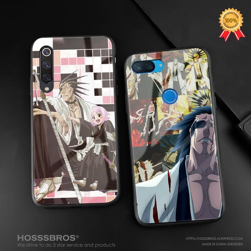 Funda para teléfono kenpachi zaraki blanqueador anime silicona suave vidrio carcasa para Xiaomi mi 8 9 SE mi x 2 2s 3 Red mi Note 5 6 7 8 Pro