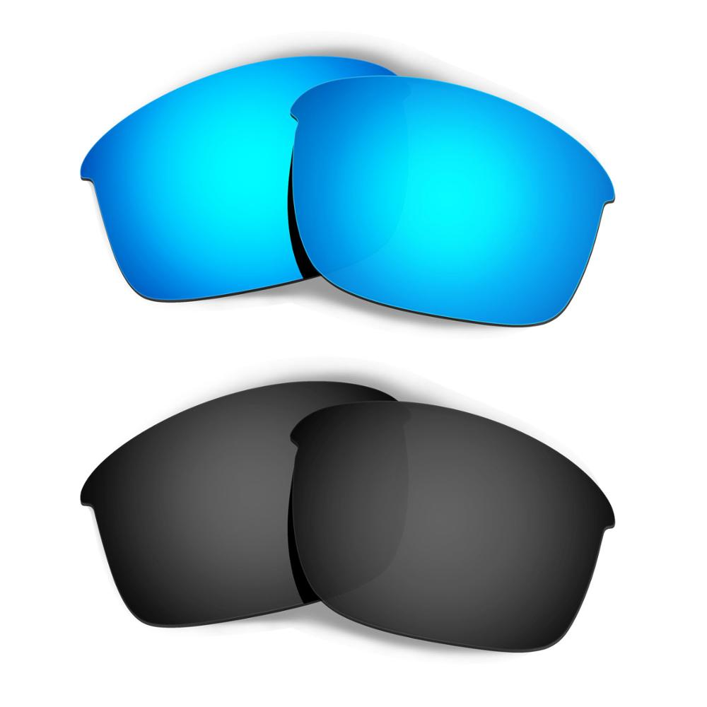 HKUCO ل زجاجة الصواريخ النظارات الشمسية استبدال العدسات المستقطبة 2 أزواج-الأزرق والأسود