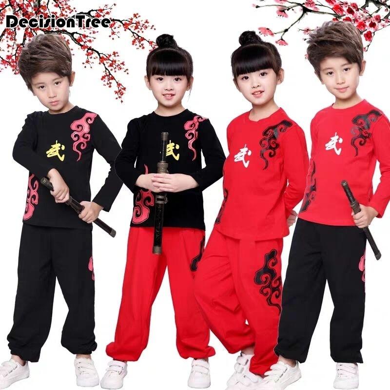 2021 китайский ушу форма для кунг фу, одежда для боевых искусств костюм Вин Чун, хлопковый наряд с принтом для Для мальчиков и девочек детская одежда Комплекты для детей| | | АлиЭкспресс