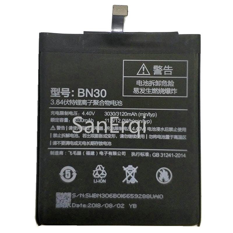 Top Qualität BN30 batterie Für Xiaomi Redmi 4A Handy Ersatz Batterie + Tracking-Code