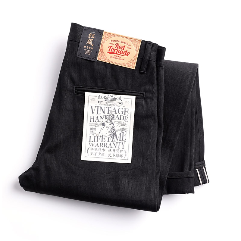 DN-0002 Vintage 14 Oz Indigo Selvage Stylish Trousers Mens Casual Chino Raw Denim Jean Pants Size 28-42