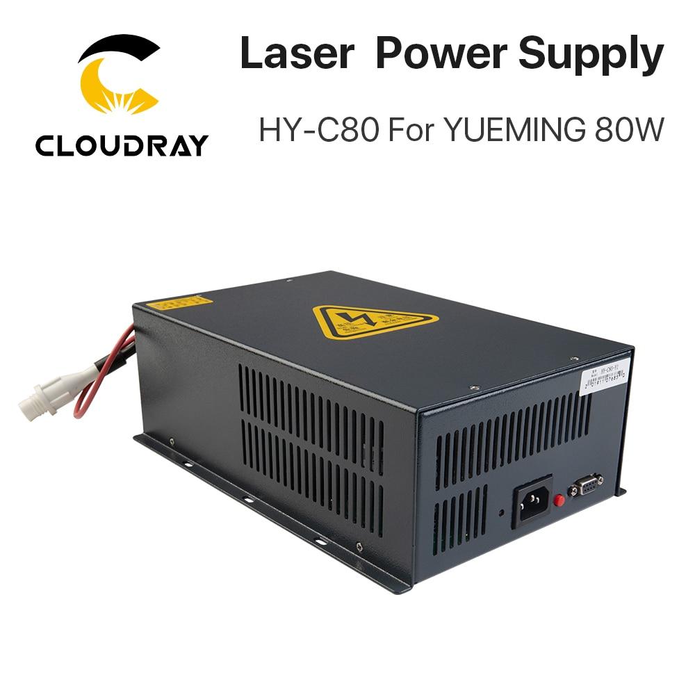 Cloudray HY-C80 CO2 الليزر امدادات الطاقة 80W ل YUEMING النقش/آلة قطع