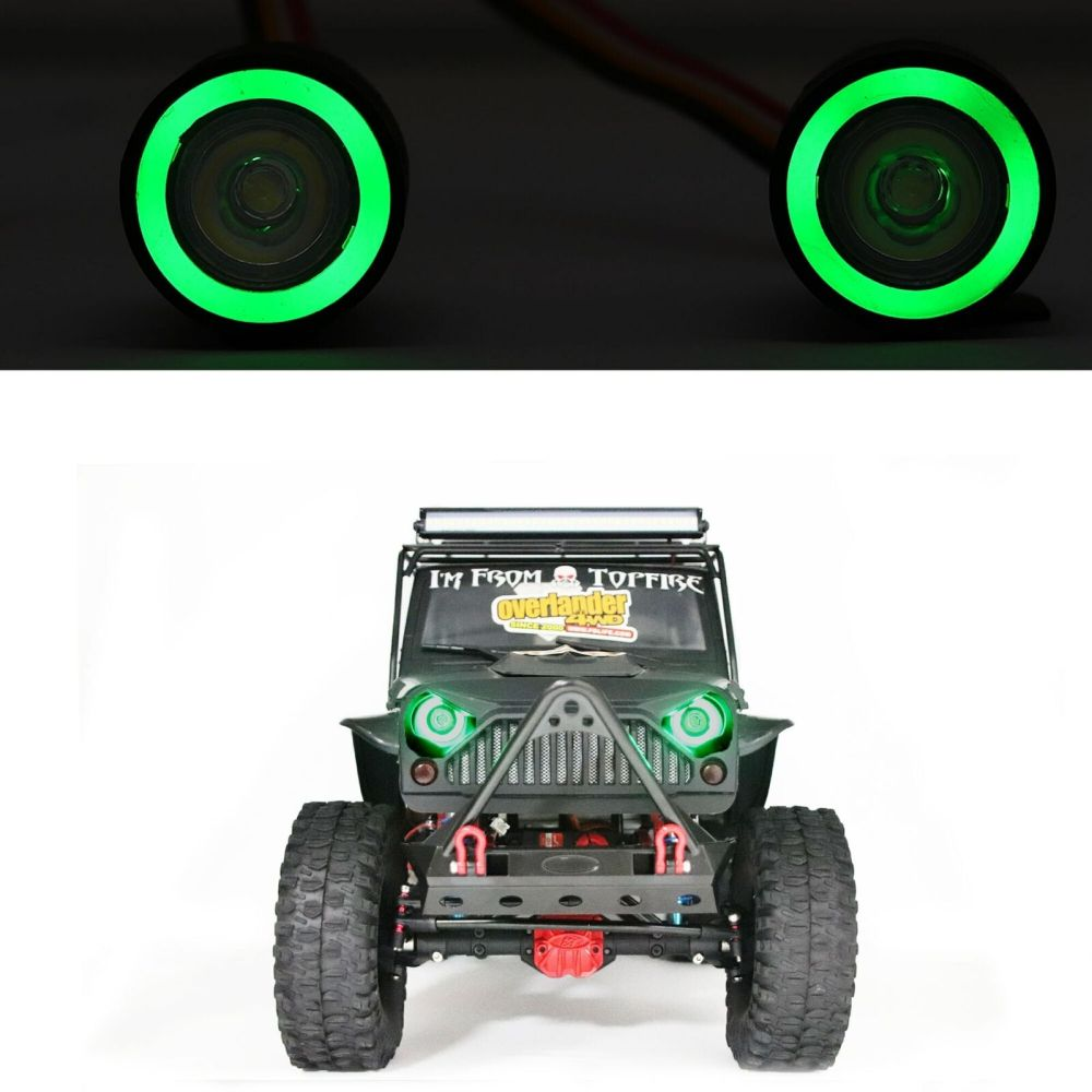 1/10 Colorful Angel Eye Lamp LED Lights Headlight for Axial SCX10 III Wrangler Jeep D90 Traxxas TRX4 RC Cralwe Buggy Car enlarge