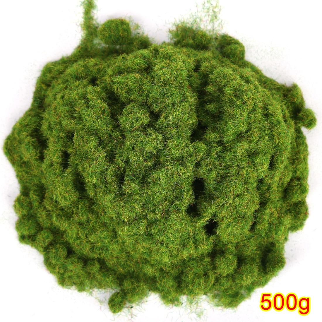 Polvo de hierba Artificial 500g DIY, modelo de tren, mesa de arena, modelo decorativo, Kits de construcción-amarillo verde