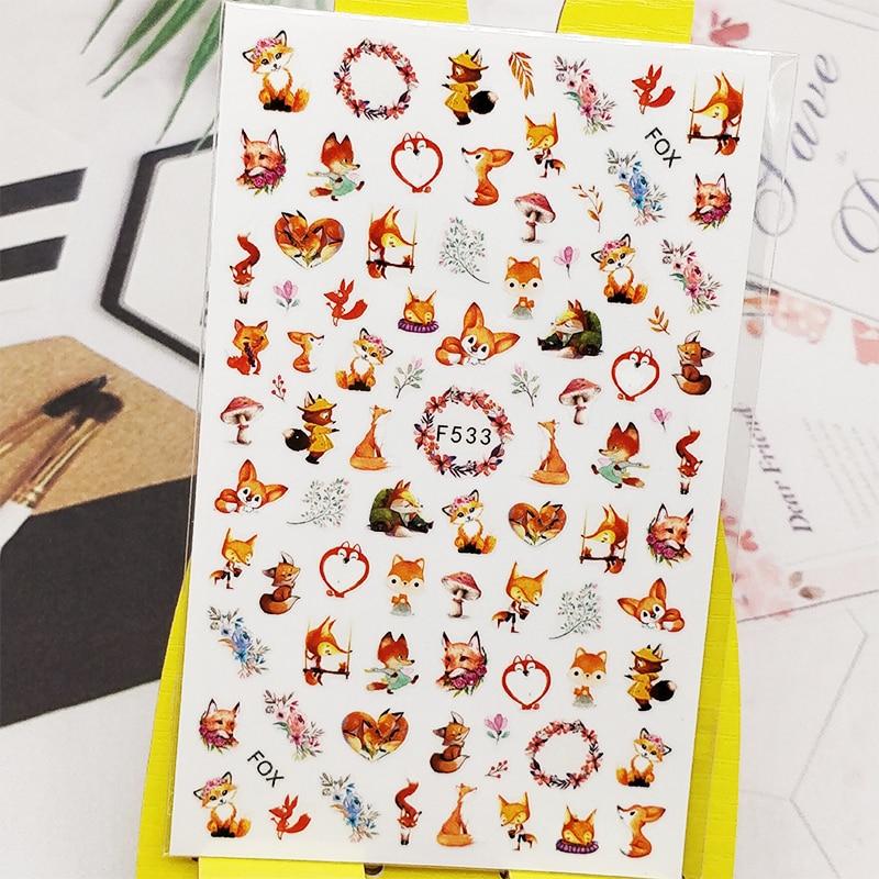3D Nail Sticker Decals Mushroom Flowers Design Nail Art Decorations Stickers Sliders Manicure Accessories Nails Decoraciones all 3d laser holographic nail stickers for nails manicure nail art decals stickers decor decorations things