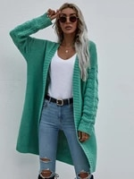 autumn spring long sleeve hollow out solid knitted sweaters open stitch long jackets loose outerwear cardigan womens sweater